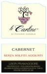 Le Carline: Cabernet no solfiti aggiunti, da agricoltura biologica
