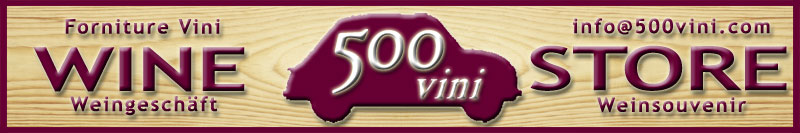insegna e logo enoteca 500VINI, vendita vini a Caorle