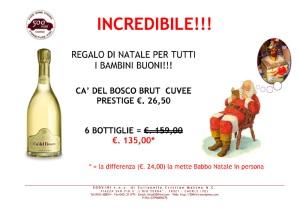 Babbo Natale regala (quasi) una bottiglia di Franciacorta Cuvee Prestige!!!