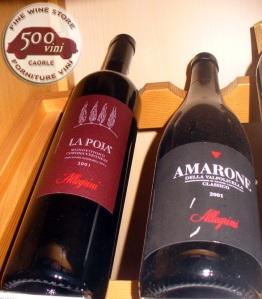 AMARONE 2001 e LA POJA 2001 ALLEGRINI