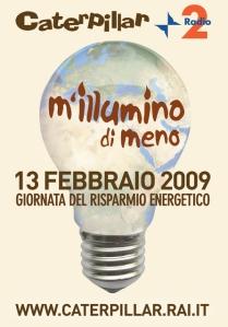 logo m'illumino di meno 2009
