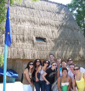 Mont Holyhoke Group visiting a casone, Venice Lagoon typical fishermen's house