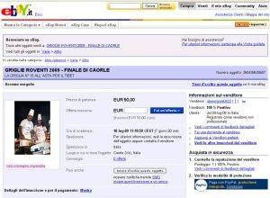 Griglie Roventi pro-Tibet: Asta su Ebay a Caorle