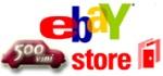 il banner del negozio di 500VINI in Ebay per acquistare vino on line