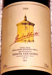 Guidalberto 2006 1,5 lt, magnum supertuscan by Tenuta San Guido