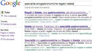 Google: ricevi a casa le specialità enogastronomiche per Regalo di Natale, nei motori di ricerca
