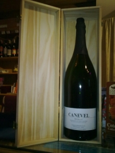 Prosecco Canevel, doppio magnum, cassa legno, no spese spedizione