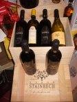 cassa legno con sei bottiglie vini tipici venezia