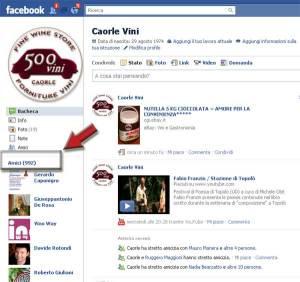 500VINI raggiunge le 1000 amicizie su Facebook