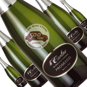 Le Carline Prosecco Valdobbiadene Extra Dry Sekt Sparkling Organic Wine Spumante Biologico. Offerta speciale 6 Bottiglie