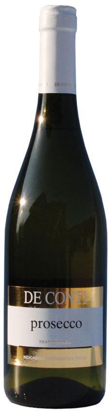 """Offerta 6 bottiglie di Prosecco Tradizionale De Conti, area Cartizze, prosecco col fondo, o """"sur lie"""""""