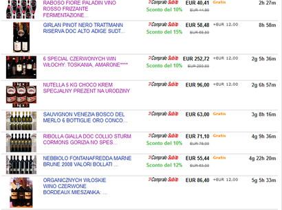 Ebay Store: spazio vendita on line di 500VINI Caorle