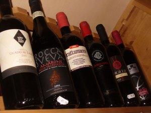 Fine red wine from Italy: Amarone, Montalcino, Curtefranca, Nero d'Avola, Bolgheri, 6 bottles