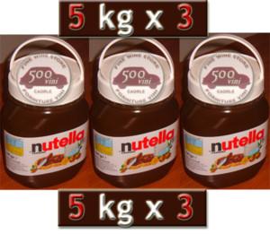 nutella 5 kg cream chocolate spread idea for special gift 3 pots 500vini caorle. Black Bedroom Furniture Sets. Home Design Ideas