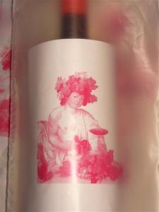 Borsa per bottiglia vino: dettaglio stampa