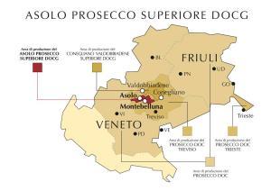 DOCG Prosecco, Conegliano Valdobbiadene, Asolo