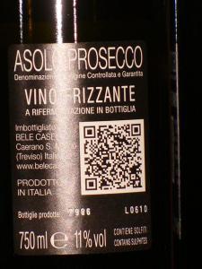 """Bele Casel Prosecco DOCG Asolo """"Colfóndo"""""""