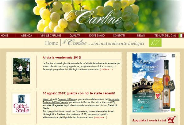 Le Carline: vini biologici, naturalmente!