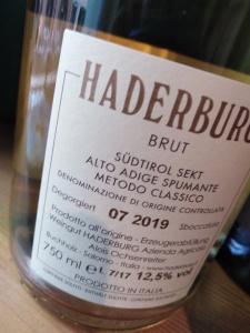 HADERBURG BRUT METODO CLASSICO S.A. ALTO ADIGE SPUMANTE/SUDTIROLER SEKT