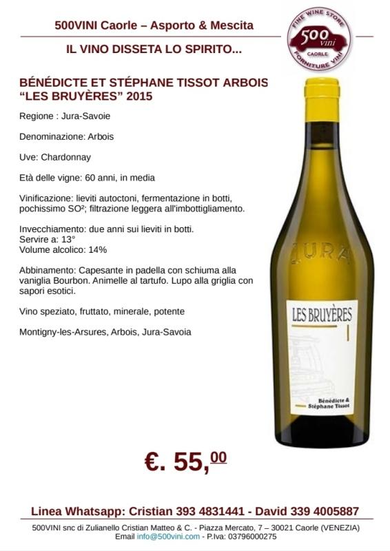 TISSOT ARBOIS LES BRUYÈRES 2015